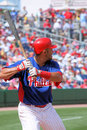 Joueur de phillies de Philadelphie de mlb de base-ball Photo stock