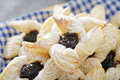 Joulutorttu finnish christmastime puff pastries with dried plum marmalade Stock Photography