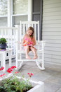 Journaling on the front porch Royalty Free Stock Photo