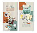 Journalist Typewriter Vertical Banners Royalty Free Stock Photo