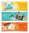 Journalist Vintage Typewriter Banners Royalty Free Stock Photo