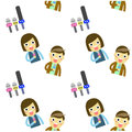 Journalistic tool cartoon pattern Royalty Free Stock Photo