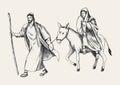 Journey To Bethlehem Royalty Free Stock Photo