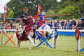 Jousting knights Stock Photos