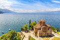 Jovan Kaneo Church, Lake Ohrid, Macedonia. Royalty Free Stock Photo