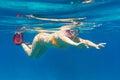 Jovens mulheres que snorkeling no mar de Andaman Foto de Stock