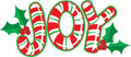 Joy Candy Cane Royalty Free Stock Photo