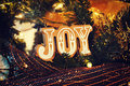 Joy on a christmas with ornaments to celebrate the holidays Royalty Free Stock Photo