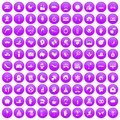 100 joy icons set purple