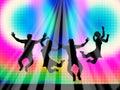 Joy represents light burst and de salto feliz Imágenes de archivo libres de regalías