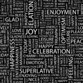 Joy seamless pattern word cloud illustration Royalty Free Stock Photos