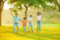 Joyful Asian family Royalty Free Stock Photography
