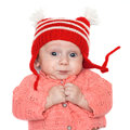 Joyful baby in a hat Royalty Free Stock Image
