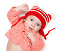 Joyful baby in a hat Royalty Free Stock Photography