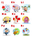 Joyful cartoon alphabet collection 2 Stock Images