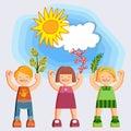 Joyful picture for decorating children`s parties