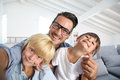 Joyful father and children having fun Royalty Free Stock Photo