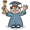 Joyful graduate this is file of eps format Royalty Free Stock Photography