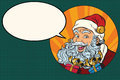 Joyful Santa Claus says Royalty Free Stock Photo