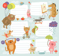 Joyful schedule background with cute characters