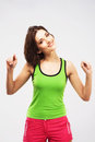 Joyful sporty woman Stock Photos