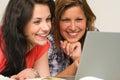 Joyful Teens Browsing On Inter...