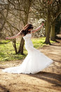 Joyous Bride Royalty Free Stock Photo