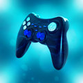 Joystick on blue background Royalty Free Stock Photo