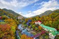 Jozankei hokkaido landscape of hot springs resorts in the valley in japan Stock Photography