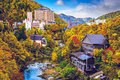 Jozankei japan hot spring resort town during the autumn season Stock Image