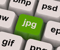 Jpg Key Shows Image Format For Internet Pictures Stock Images