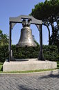 Jubilee bell in vatican state garden Royalty Free Stock Photo