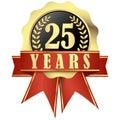 Jubileum reklamní formát primárně určen pro použití na webových stránkách a stuhy 25 roky