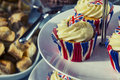 Jubilee cupcakes in the theme of the Royalty Free Stock Image