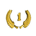Jubilee laurel wreath to celebrate an anniversary to honor and distinction Royalty Free Stock Image