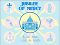 Jubilee of mercy holy year background proclaimed by pope francis for the catholic church vector illustration Royalty Free Stock Image