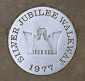 Jubilee walkway sign in london Stock Photography