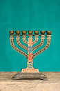 Judaica menorah Royalty Free Stock Photo