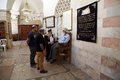 Judaism jewish people are speaking each other in the synagogue in hebron israel Stock Photo