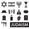 Judaism Religion Symbols Vecto...