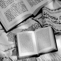 Judaism synagogue torah the jewish holy book the in a Royalty Free Stock Image