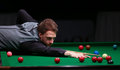 Judd Trump plays friendly tournament in Bucharest Royalty Free Stock Photo