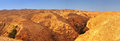 Judean desert. Panoramic view towards the Monastery of Tempation Royalty Free Stock Photo