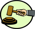 Judge or auction hammer vector illustration Royalty Free Stock Image