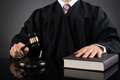 Judge With Gavel And Book Royalty Free Stock Photo