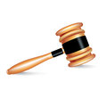 Judge gavel isolated on white background Stock Image