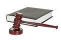 Judge gavel and law book Royalty Free Stock Photos