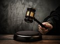 Judge holding hammer Royalty Free Stock Photo