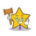 Judge star character cartoon style