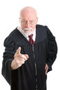 Judge - Stern and Scolding Royalty Free Stock Photo